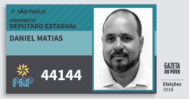 Santinho Daniel Matias 44144 (PRP) Deputado Estadual | São Paulo | Eleições 2018