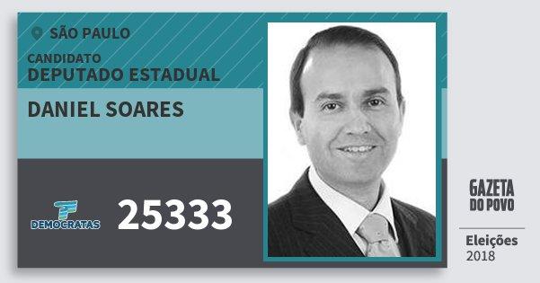 Santinho Daniel Soares 25333 (DEM) Deputado Estadual | São Paulo | Eleições 2018
