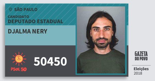Santinho Djalma Nery 50450 (PSOL) Deputado Estadual | São Paulo | Eleições 2018