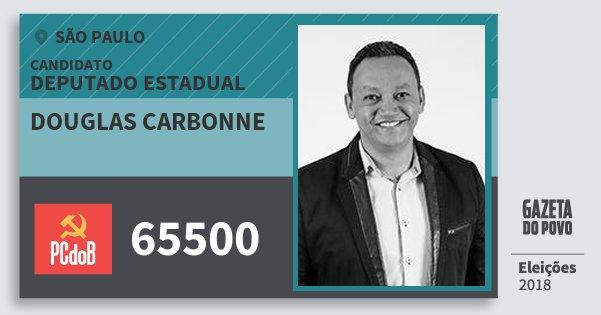 Santinho Douglas Carbonne 65500 (PC do B) Deputado Estadual | São Paulo | Eleições 2018