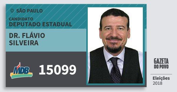 Santinho Dr. Flávio Silveira 15099 (MDB) Deputado Estadual | São Paulo | Eleições 2018