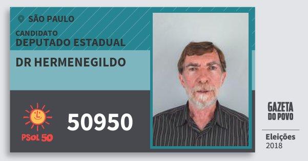 Santinho Dr Hermenegildo 50950 (PSOL) Deputado Estadual | São Paulo | Eleições 2018