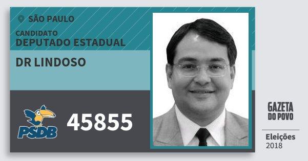 Santinho Dr Lindoso 45855 (PSDB) Deputado Estadual | São Paulo | Eleições 2018