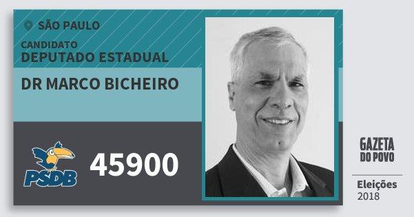 Santinho Dr Marco Bicheiro 45900 (PSDB) Deputado Estadual | São Paulo | Eleições 2018