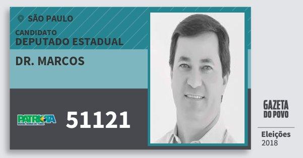 Santinho Dr. Marcos 51121 (PATRI) Deputado Estadual | São Paulo | Eleições 2018