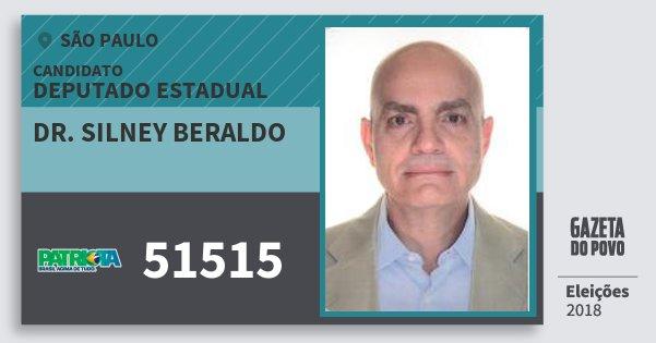 Santinho Dr. Silney Beraldo 51515 (PATRI) Deputado Estadual | São Paulo | Eleições 2018