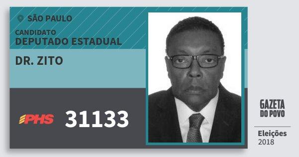 Santinho Dr. Zito 31133 (PHS) Deputado Estadual | São Paulo | Eleições 2018