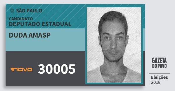 Santinho Duda Amasp 30005 (NOVO) Deputado Estadual | São Paulo | Eleições 2018