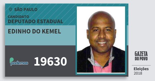 Santinho Edinho do Kemel 19630 (PODE) Deputado Estadual | São Paulo | Eleições 2018