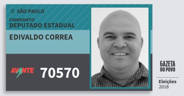 Santinho Edivaldo Correa 70570 (AVANTE) Deputado Estadual | São Paulo | Eleições 2018