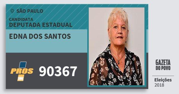 Santinho Edna dos Santos 90367 (PROS) Deputada Estadual | São Paulo | Eleições 2018
