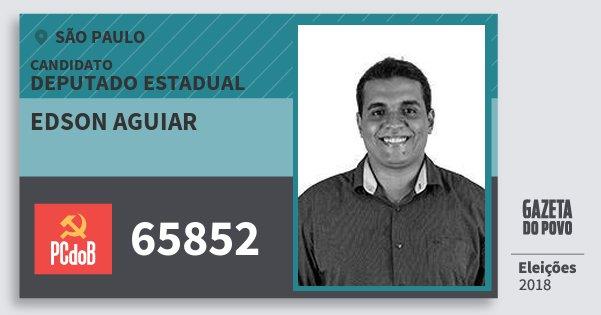 Santinho Edson Aguiar 65852 (PC do B) Deputado Estadual | São Paulo | Eleições 2018