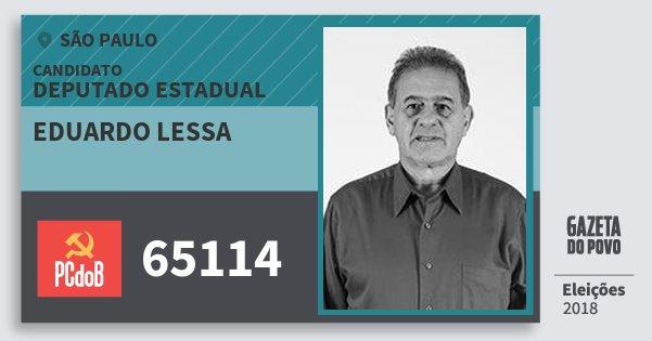 Santinho Eduardo Lessa 65114 (PC do B) Deputado Estadual | São Paulo | Eleições 2018
