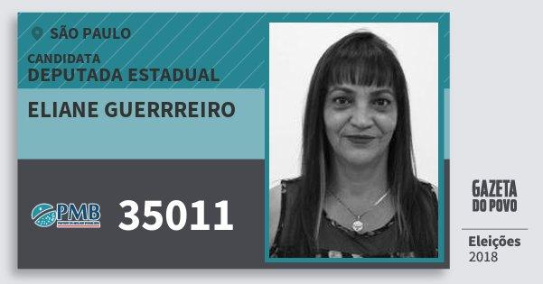 Santinho Eliane Guerrreiro 35011 (PMB) Deputada Estadual | São Paulo | Eleições 2018