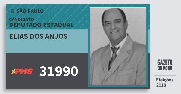 Santinho Elias dos Anjos 31990 (PHS) Deputado Estadual | São Paulo | Eleições 2018