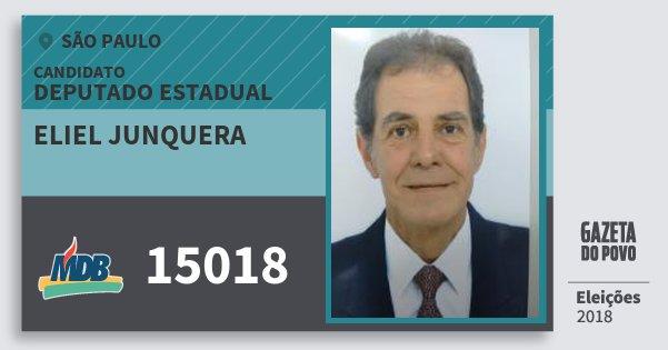 Santinho Eliel Junquera 15018 (MDB) Deputado Estadual | São Paulo | Eleições 2018