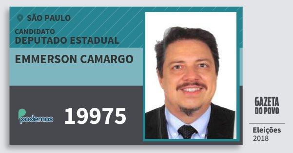 Santinho Emmerson Camargo 19975 (PODE) Deputado Estadual | São Paulo | Eleições 2018