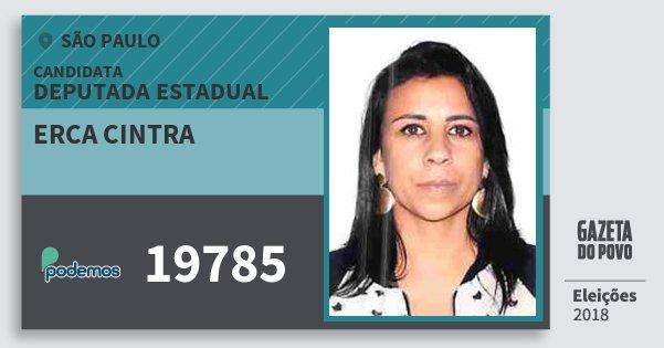 Santinho Erca Cintra 19785 (PODE) Deputada Estadual | São Paulo | Eleições 2018
