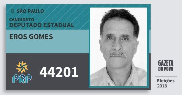 Santinho Eros Gomes 44201 (PRP) Deputado Estadual | São Paulo | Eleições 2018