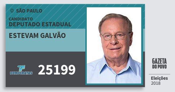 Santinho Estevam Galvão 25199 (DEM) Deputado Estadual | São Paulo | Eleições 2018
