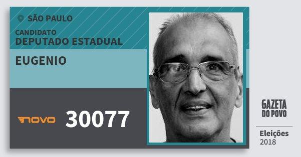 Santinho Eugenio 30077 (NOVO) Deputado Estadual | São Paulo | Eleições 2018