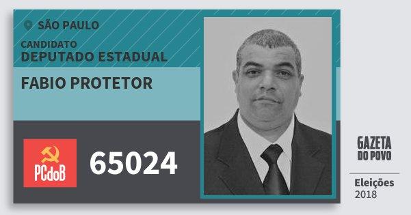 Santinho Fabio Protetor 65024 (PC do B) Deputado Estadual | São Paulo | Eleições 2018