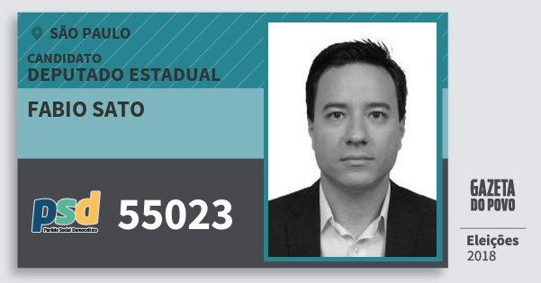 Santinho Fabio Sato 55023 (PSD) Deputado Estadual | São Paulo | Eleições 2018