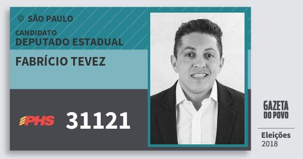 Santinho Fabrício Tevez 31121 (PHS) Deputado Estadual | São Paulo | Eleições 2018