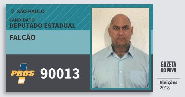 Santinho Falcão 90013 (PROS) Deputado Estadual | São Paulo | Eleições 2018
