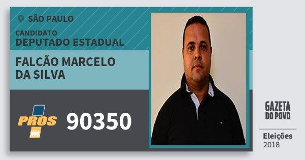 Santinho Falcão Marcelo da Silva 90350 (PROS) Deputado Estadual | São Paulo | Eleições 2018