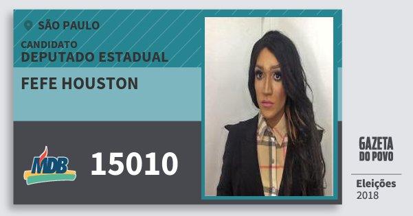 Santinho Fefe Houston 15010 (MDB) Deputado Estadual | São Paulo | Eleições 2018
