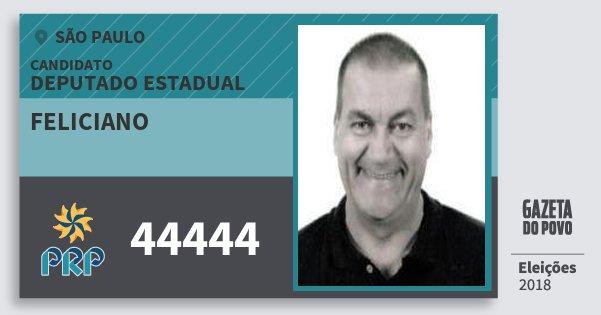 Santinho Feliciano 44444 (PRP) Deputado Estadual | São Paulo | Eleições 2018