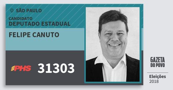Santinho Felipe Canuto 31303 (PHS) Deputado Estadual | São Paulo | Eleições 2018
