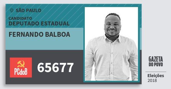 Santinho Fernando Balboa 65677 (PC do B) Deputado Estadual | São Paulo | Eleições 2018