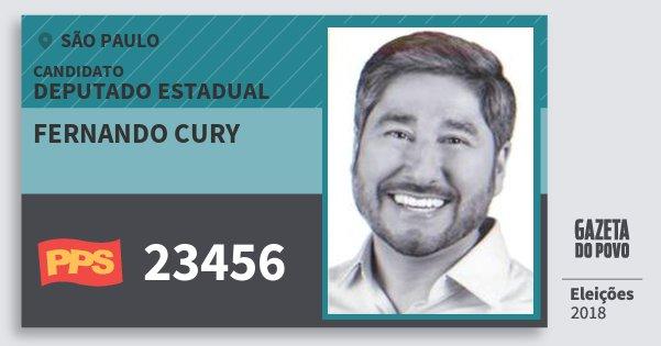 Santinho Fernando Cury 23456 (PPS) Deputado Estadual | São Paulo | Eleições 2018