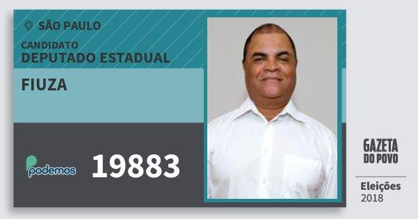 Santinho Fiuza 19883 (PODE) Deputado Estadual | São Paulo | Eleições 2018