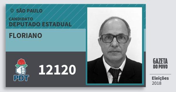 Santinho Floriano 12120 (PDT) Deputado Estadual | São Paulo | Eleições 2018