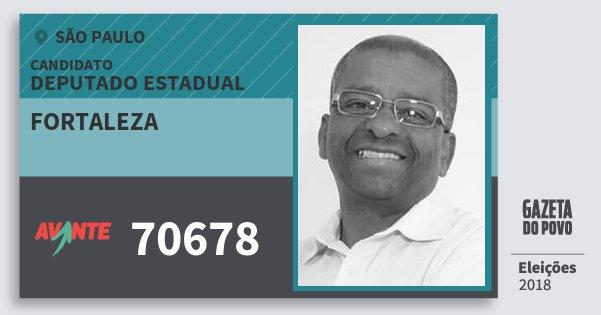 Santinho Fortaleza 70678 (AVANTE) Deputado Estadual | São Paulo | Eleições 2018