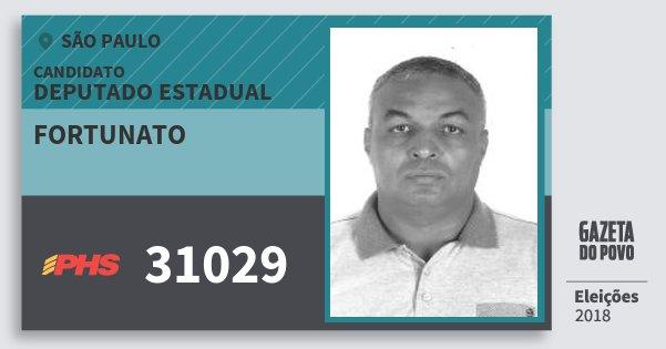 Santinho Fortunato 31029 (PHS) Deputado Estadual | São Paulo | Eleições 2018