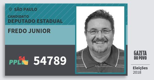 Santinho Fredo Junior 54789 (PPL) Deputado Estadual | São Paulo | Eleições 2018
