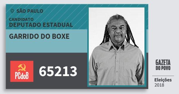 Santinho Garrido do Boxe 65213 (PC do B) Deputado Estadual | São Paulo | Eleições 2018