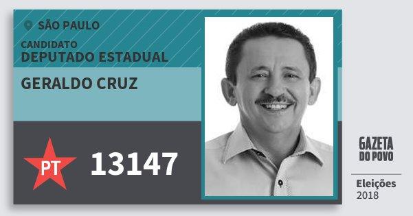 Santinho Geraldo Cruz 13147 (PT) Deputado Estadual | São Paulo | Eleições 2018