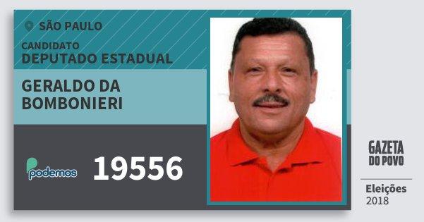Santinho Geraldo da Bombonieri 19556 (PODE) Deputado Estadual   São Paulo   Eleições 2018