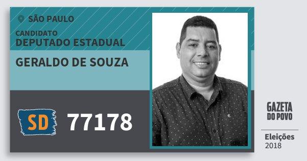 Santinho Geraldo de Souza 77178 (SOLIDARIEDADE) Deputado Estadual | São Paulo | Eleições 2018