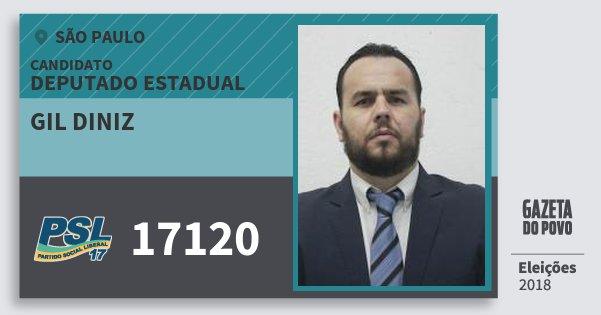 Santinho Gil Diniz 17120 (PSL) Deputado Estadual | São Paulo | Eleições 2018