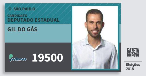 Santinho Gil do Gás 19500 (PODE) Deputado Estadual | São Paulo | Eleições 2018