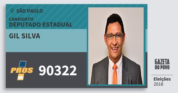 Santinho Gil Silva 90322 (PROS) Deputado Estadual | São Paulo | Eleições 2018