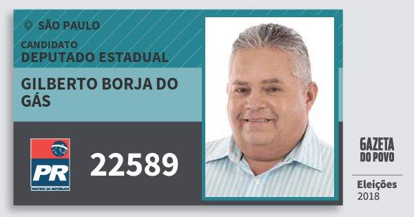 Santinho Gilberto Borja do Gás 22589 (PR) Deputado Estadual | São Paulo | Eleições 2018
