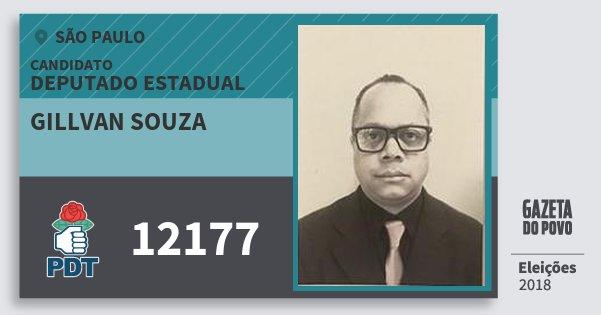 Santinho Gillvan Souza 12177 (PDT) Deputado Estadual | São Paulo | Eleições 2018