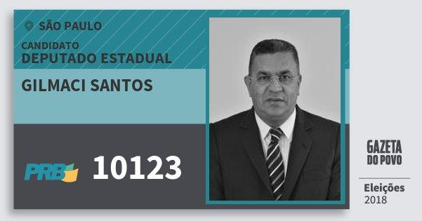 Santinho Gilmaci Santos 10123 (PRB) Deputado Estadual | São Paulo | Eleições 2018